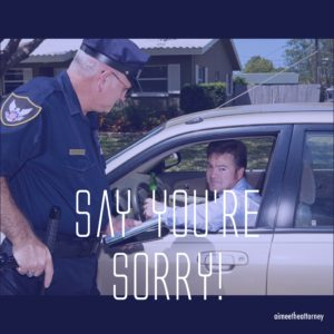 "Beat a Speeding Ticket?  Might Be as Simple as ""I'm Sorry."""