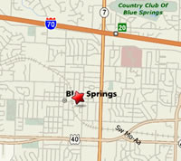 Map to Blue Springs Municipal Court